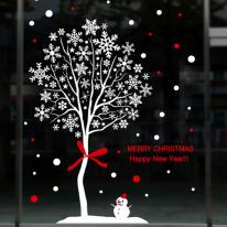 cmi145-화이트 크리스마스 눈꽃 나무