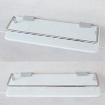 BMC 인조대리석2 욕실일자선반(스노우/30cm)