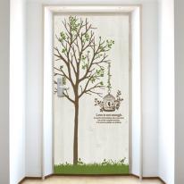 [현관문 시트지]자연이 머무는 풍경과 나무 NDS13