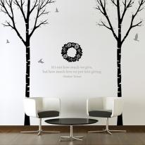 [나무] 자작나무 2set - 다크 플라워