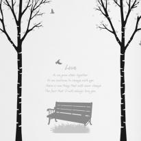 [나무] 자작나무 2set - 벤치