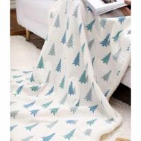 [2HOT] 북유럽 겨울속 소나무 무릎담요 대 110x145