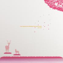 [나무] 북유럽 스타일 풀빛 새집 - 사슴