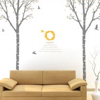 [나무] 북유럽 스타일 자작나무2set - 에버그린