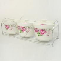 핑크장미 양념통 3종세트(100*70)