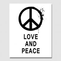 캔버스 액자 / CAS423 북유럽 스타일-타이포-LOVE AND PEACE 북유럽풍 인테리어