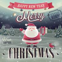 컷트지]최첨단DTP-해피크리스마스(산타)(a1341)