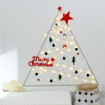 [디홈] 크리스마스 DIY 월 데코 트리세트 레드그린 버전