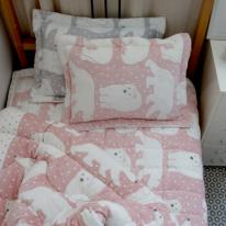 북극곰 극세사 침구세트(핑크) - 싱글이불단품