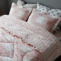 밍크착번 극세사 침구세트 (핑크) - 싱글세트