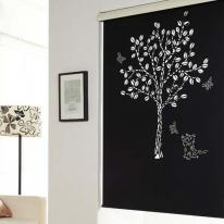 은은한 채광이 돋보이는 레이저 블라인드 D007나무