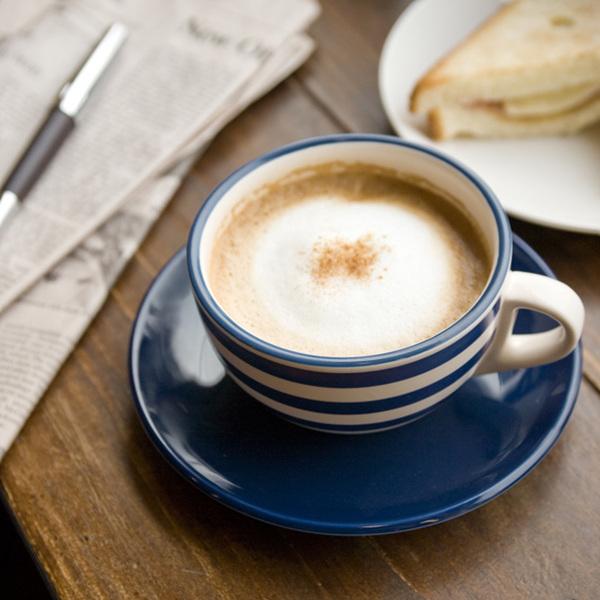 더카페 스트라이프 카푸치노 커피잔1인조