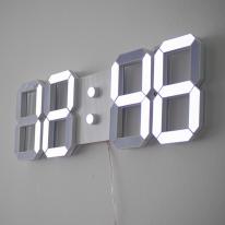 화이트 3D LED 벽시계