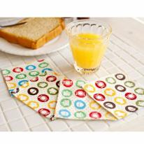 [2HOT] 쿠킹 패턴 컵받침 4P