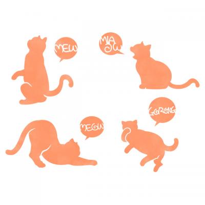스텐실 도안_사운드 고양이 (A4)
