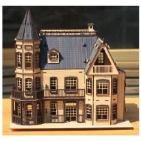 DIY나무모형 로렐타운 홈(블랙)