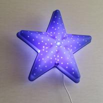 밝기조절 LED형 별모양 벽등(블루)