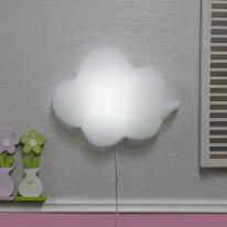 밝기조절 LED형 구름모양 벽등(화이트)