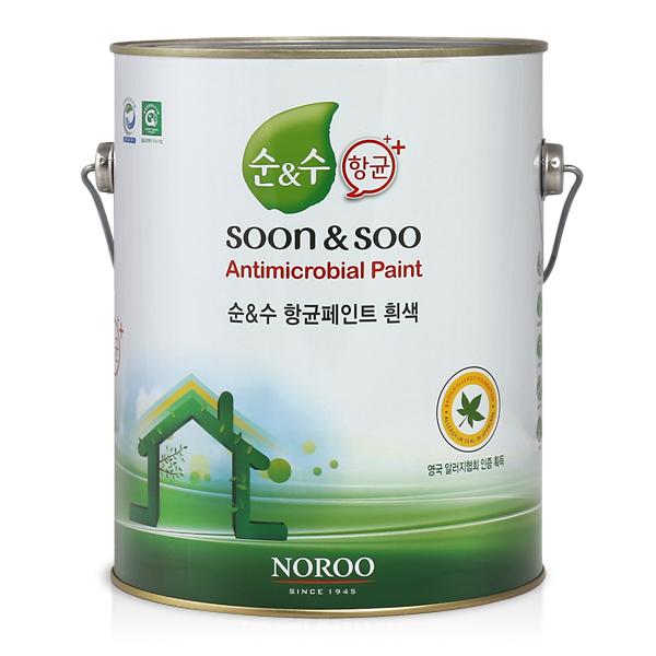 [순앤수] 항균페인트 4L (무광) 항세균/항곰팡이/기능성페인트
