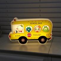프랭키 캐릭터 LED 스쿨버스 벽등