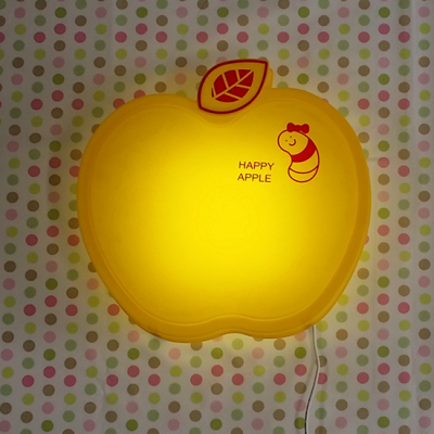 LED형 (꼬물이가 사는) happy 애플벽등(옐로우)