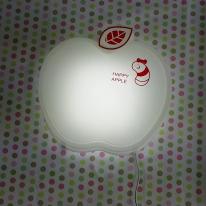 LED형 (꼬물이가 사는) happy 애플벽등(화이트)
