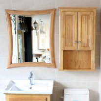 뉴라인 사각 원목 거울(메이플)