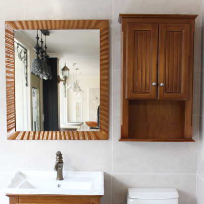 레이스 네모 원목 거울(하임엔틱)