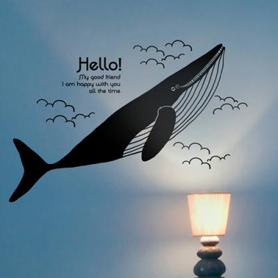 고래 (동물) 그래픽스티커 인테리어 월데코 시트지