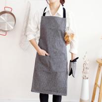 simply stripe apron-black
