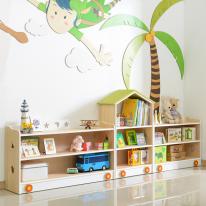 [히트상품]어린이집교구장 원목책장 원목책꽂이 유아책꽂이 인테리어가구