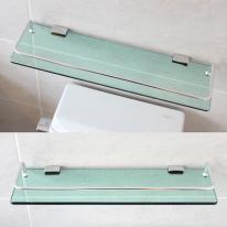 강화유리 욕실일자선반(45cm/국산)