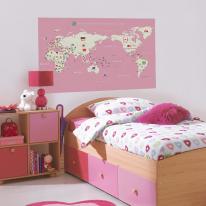 초간편 어린이세계지도-C1103(핑크)