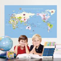 초간편 어린이세계지도-C1201(블루)