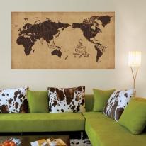 초간편 커피세계지도-F1102(브라운)