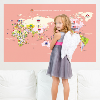 초간편 어린이세계지도-C1203(베이비핑크)