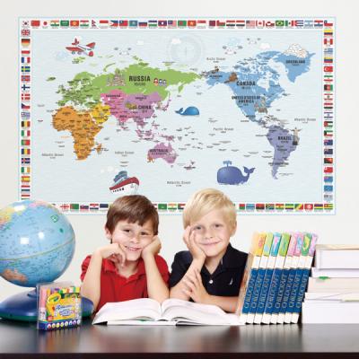 초간편 어린이국기세계지도-C1301(블루)