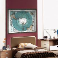 초간편 빈티지세계지도-V1102(남극)