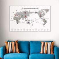 초간편 모던세계지도-M1101(화이트)