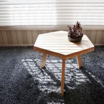 [벤트리] 원목 헥사곤 테이블
