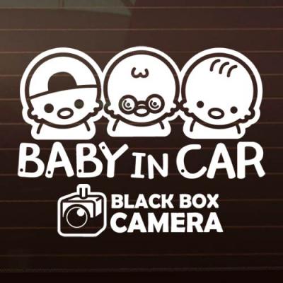 SET_아리삼형제+블랙박스 [자동차스티커/아기가타고있어요]