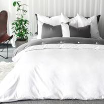 Adela twotone botton bedding set