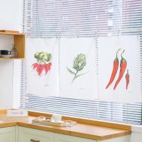 vegetable 3type 가리개커튼 (46x66 3종)
