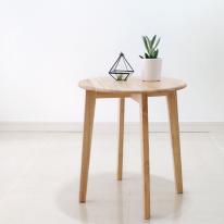 [벤트리] 원목 원형 사이드 테이블 L  (미니테이블)