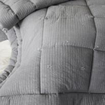 Judy star quilting comforter darkgray