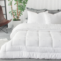 Judy star quilting comforter offwhite