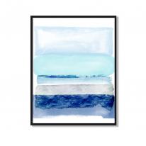벽인테리어 그림 북유럽 대형액자 수채화 블루