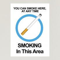 금연스티커_사인 SMOKING IN THIS AREA(칼라)