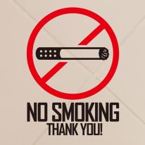 금연스티커_심볼 NO SMOKING THANK YOU