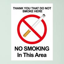 금연스티커_사인 NO SMOKING IN THIS AREA(칼라)